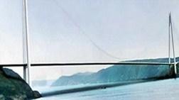 Raylı Sistemli Dünyanın En Uzun Asma Köprüsü