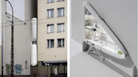 Polonya'da 120 Santimetrelik Bina