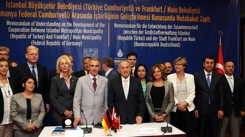 İBB, Frankfurt Belediyesi ile İşbirliği Protokolü İmzaladı
