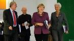 Angel Gurria, Pascal Lamy, Angela Merkel, Christine Lagarde