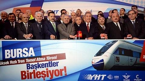 Bursa Yüksek Hızlı Tren Hattı'nın Temeli Atıldı