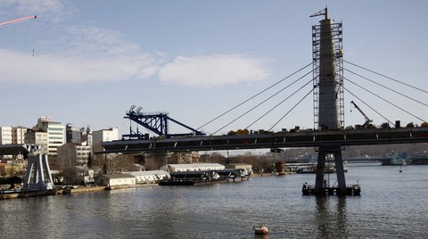 Haliç Metro Geçiş Köprüsü İnşaatında 2 Ay Sonrası