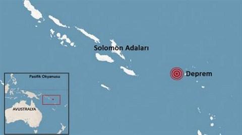 Pasifik'te 8 Büyüklüğünde Deprem