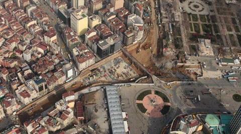 Havadan Taksim Meydanı Projesi
