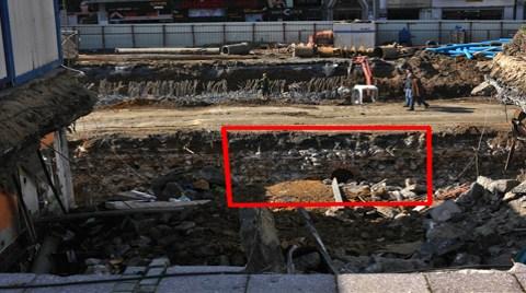 Taksim Kazısında Tarihi Bir Kemer Bulundu