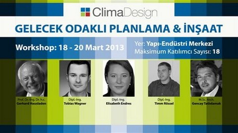 Profesyoneller ClimaDesign Workshop'ta Buluşacak