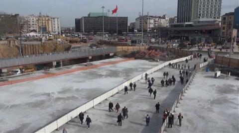 Taksim'de Yayalara Yeni Güzergâh