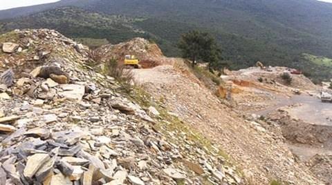 Taş Ocakları Ormanları Talan Ediyor