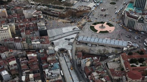 İşte Taksim Meydanı'nın Havadan Son Görüntüleri!