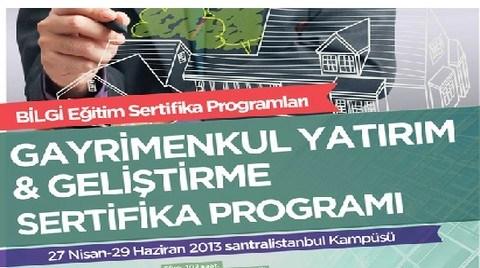 Gayrimenkul Yatırım & Geliştirme Sertifika Programı 27 Nisan'da Başlıyor