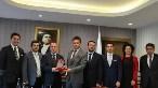 Ziyarette, Barış Aydın'ın yanı sıra TÜGİAD Ankara genel sekreteri Murat Camadan, yönetim kurulu üyeleri Ahmet Öztürk, Efe Bezci ve Zübeyir Kaya da yer aldı