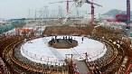Çin'de bir nükleer santral inşaatı