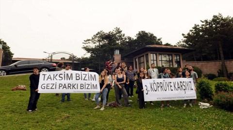 Başbakan'a 3. Köprü Protestosu
