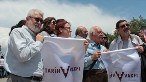 Uğur Tanyeli, İclal Dinçer, Cevat Erder ve Murat Güvenç, Gezi Parkı'nda yapılan basın açıklamasında