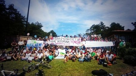 3. Köprüye Bisikletli Protesto