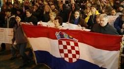 Hırvatistan'da 'Otoyol' Protestosu