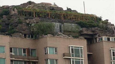 """Apartman Damına Kaçak """"Dağ Evi"""""""
