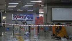Metro İstasyonunu Su Bastı
