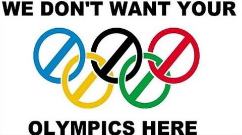 """""""Olimpiyat Savurganlığı İstemiyoruz!"""""""