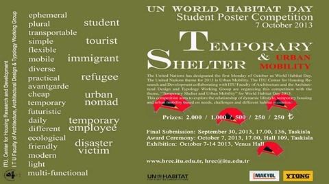 """""""Geçici Barınak & Kentsel Hareketlilik"""" Temalı Poster Yarışması"""