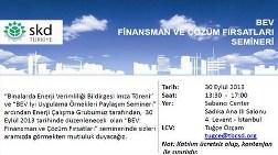 """""""Binalarda Enerji Verimliliği: Finansman ve Çözüm Fırsatları"""" Semineri"""