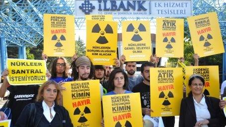 Nükleer ÇED Görüşmelerine Protesto