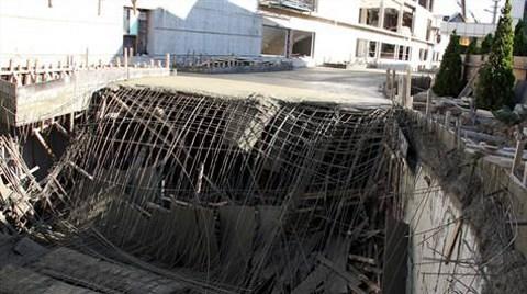 Stadyum inşaatında çökme
