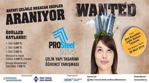 PROSteel 2014 Çelik Yapı Tasarımı Öğrenci Yarışması