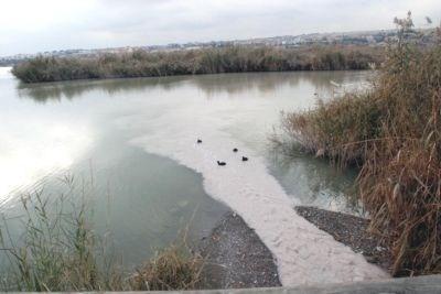 Kirli Su ve Atıklar Gölde Yarımada Oluşturdu!