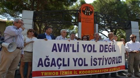 """İzmir'in """"Ağaçlı Yol""""una da AVM"""