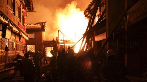 Alevler Tarihi Tibet Kentini Yuttu