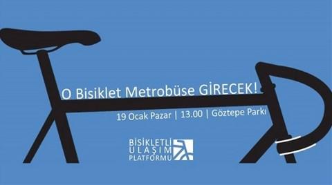 'O Bisiklet Metrobüse Binecek'