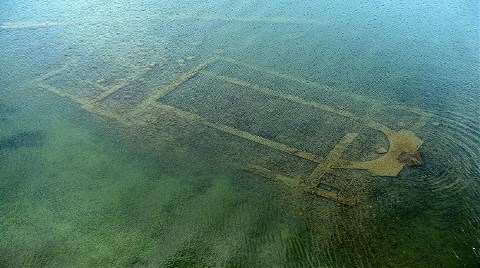 1600 Yıllık Bazilika Altı Cam Teknelerle Gezilecek