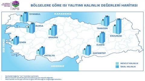 İşte Türkiye'nin 'Isı Yalıtım Kalınlığı' Haritası