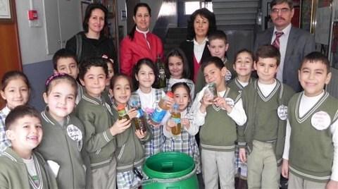 Atık Yağlara İlkokul Çocuklarından Çözüm!