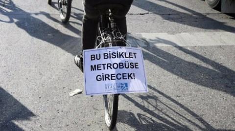 """Metrobüslere """"Bisiklet"""" Düzenlemesi!"""