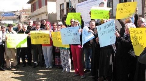 Aksu Köylülerinden HES Protestosu