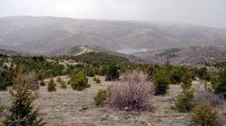 Orman Alanına Baraj Manzaralı Taş Ocağı
