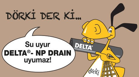 DELTA®-NP DRAIN Jeokompozit Drenaj Levhası