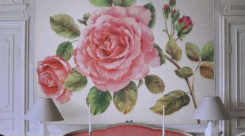Gül Desenleriyle Duvarlarda Floral Etki