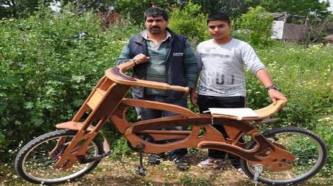 Datça'da Ahşap Bisiklet Yola Çıktı