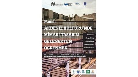 """""""Akdeniz Kültürü'nde Mimari Tasarım: Gelenekten Öğrenmek"""""""