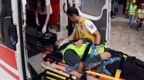 Emniyet Kemeri Kopan İnşaat İşçisi Yaralandı!