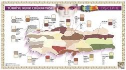Türkiye'de Boyanın 'Renk Haritası'nı Çıkardı