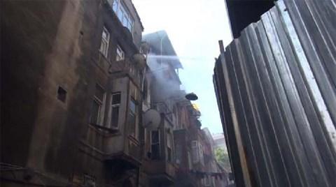 Tarlabaşı'nda 5 Katlı Bina Yandı
