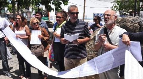 Datçalılar Ranta Karşı İmza Topluyor