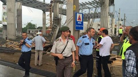 YHT İstasyon İnşaatında Çökme; 6 Yaralı!