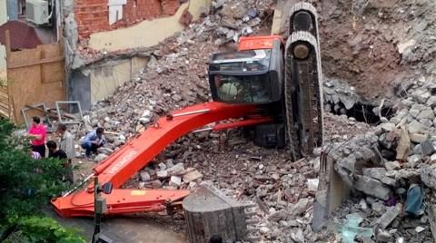 Şişli'de İnşaatta Kaza