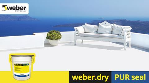 weber.dry PUR seal: Teras, Çatı Yalıtımında Uzun Ömürlü Çözüm!
