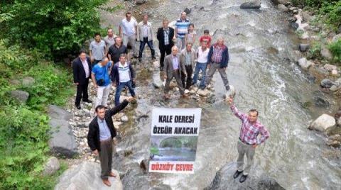 Trabzon'da HES Protestosu
